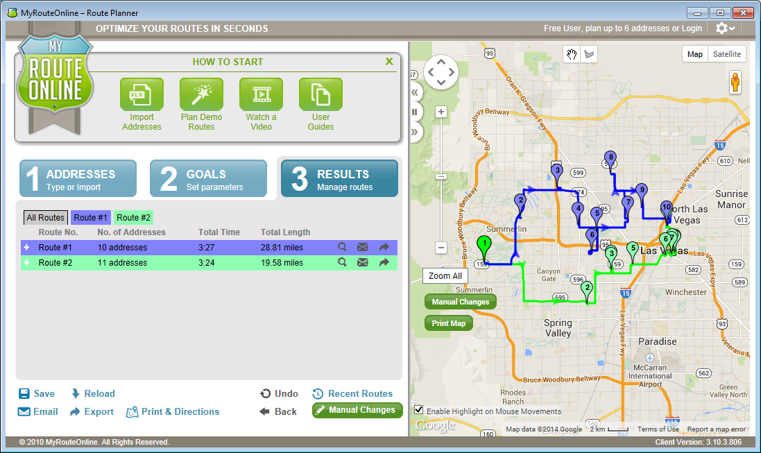 MyRouteOnline Route Planner Multi Stops Screen shot
