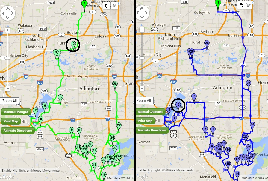 Driving Route Planner Driving Distance Optimizer >> Multi Routes Planner Create Several Routes At Once Myrouteonline