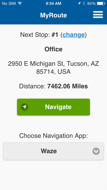 MyRoute App to navigate your route-plan on iphone