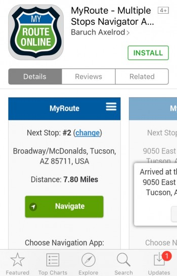 Install MyRoute App