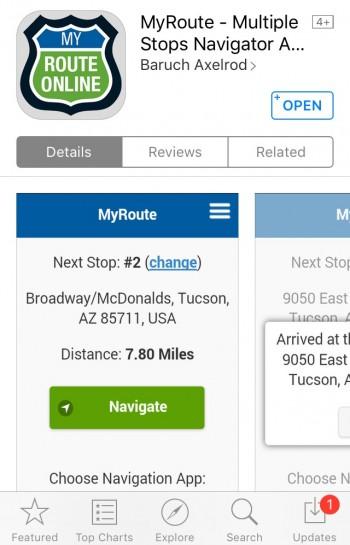 Open MyRoute App