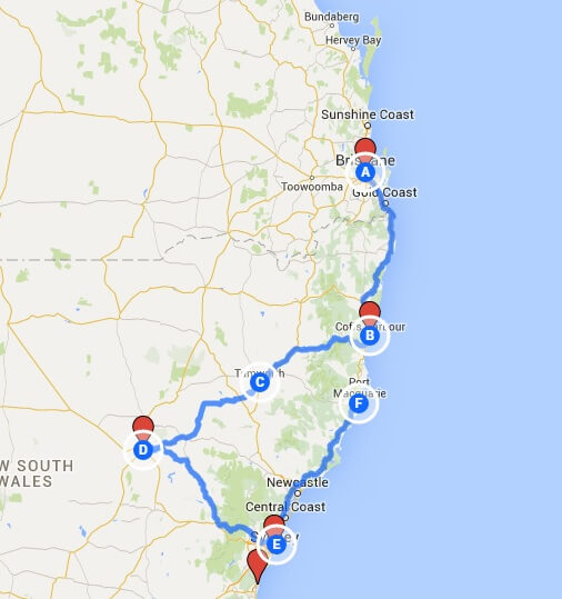 Route Planner Australia Optimize Cross country delivery routes – Google Travel Planner Map