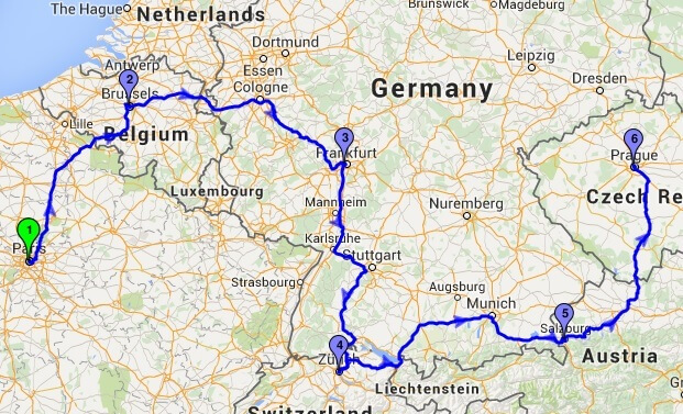 Route planner Europe Cross Country Route Optimization – Europe Travel Map Planner