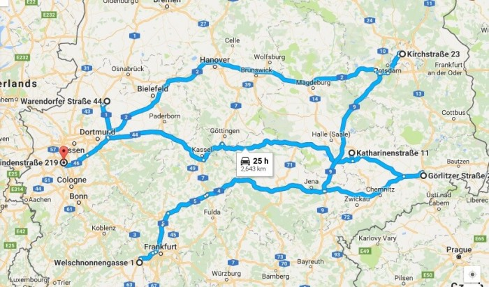 Route Planner Germany Journey Planner and Route Optimizer – Google Travel Planner Map