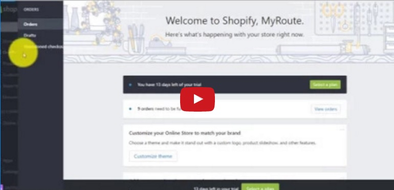 How to use MyRouteOnline with Shopify