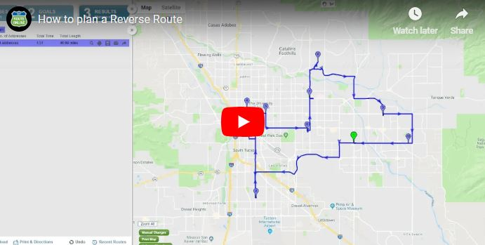 How to plan a reverse route